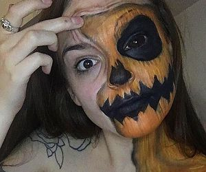 blood, body paint, and creepy image