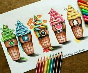instagram, snapchat, and ice cream image