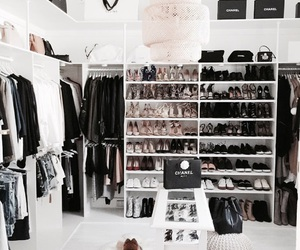 chanel, luxury, and closet image