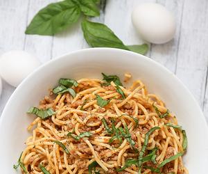 recipe, spaghetti, and carbonara image