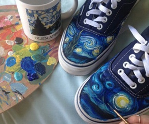 art, shoes, and vans image