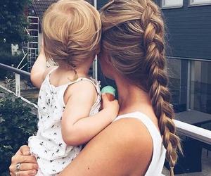 baby, braid, and hair image