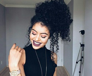 curls, curly hair, and girl image