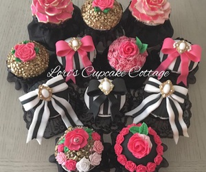 birthday, black and white, and bows image
