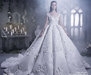 bridal, dress, and fairytale image