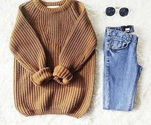 fashion, outfit, and sweater image