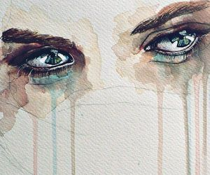 eyes, art, and cry image