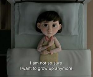 quotes, sad, and grow up image