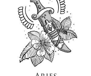 aries and horoscope image