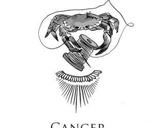 art, cancer, and horoscope image