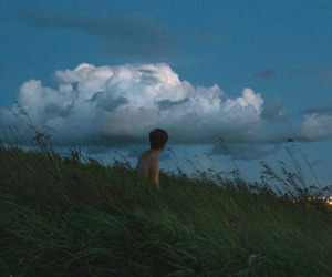 grunge, clouds, and vintage image