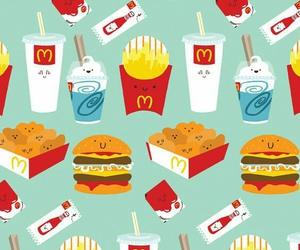 fast food, McDonald's, and yummy image