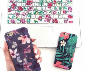 apple, case, and flowers image