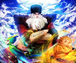 easter bunny, jack frost, and Sandman image