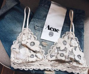 acne, bralette, and Couture image