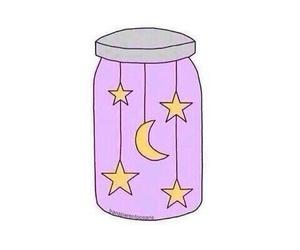stars, moon, and jar image
