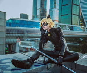 adrian, Chat Noir, and cosplay image