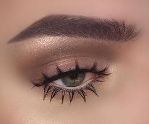 glam, makeup, and nude makeup image