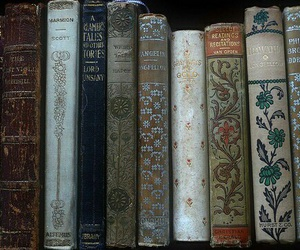 book, bookshelf, and books image