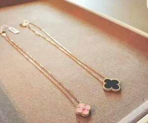 accessories, necklace, and black image