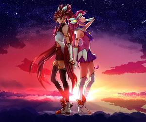 lux, league of legends, and jinx star guardian image
