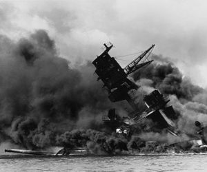 destroyed, ship, and pearl harbor image
