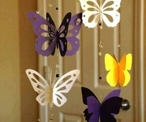 butterfly, girl, and handmade image