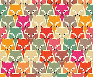 pattern, fox, and wallpaper image