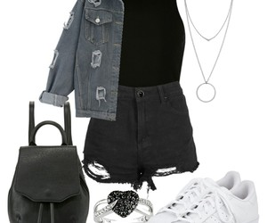 black, fashion, and grey image