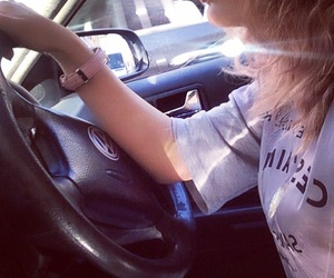 car, driving, and volkswagen image