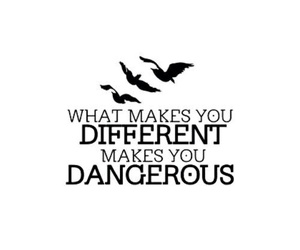 divergent, quote, and dangerous image