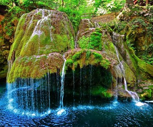 waterfall, nature, and romania image