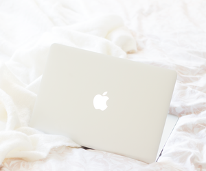 interiors, white, and mac laptops image