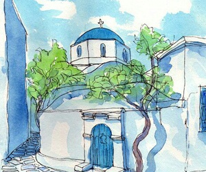 art, painting, and Greece image