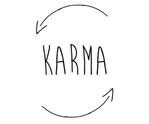 black, karma, and white image
