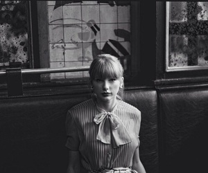 Taylor Swift, begin again, and black and white image