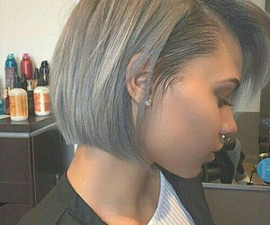 grey, hair, and hairstyles image