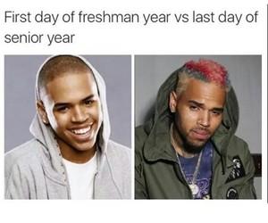 chris brown, funny, and highschool image