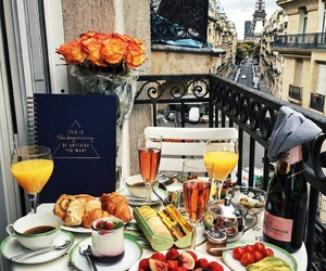 food, paris, and breakfast image