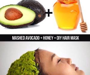 honey, diy, and avocado image