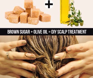 diy, brown sugar, and hair image