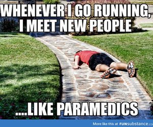funny, running, and humor image