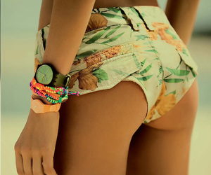 babes, shorts, and beach image