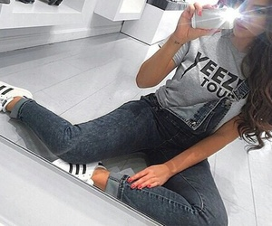 adidas, fashion, and hair image