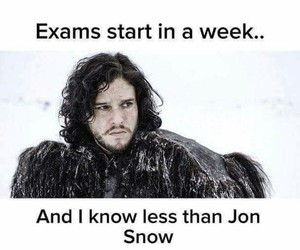 funny, game of thrones, and jon snow image