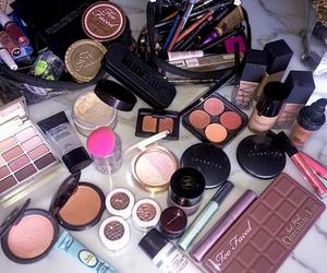 cosmetics, lip gloss, and make up for ever image