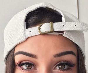 girl, eyes, and makeup image