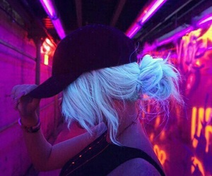 neon, colors, and grunge image