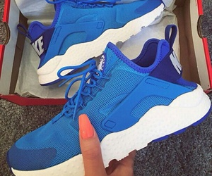blue, white, and shoes image
