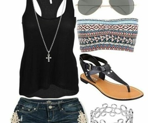 outfit, summer, and black image